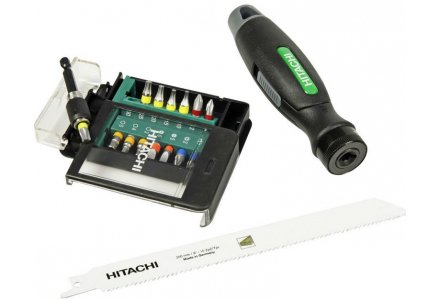 Hitachi Multi-tool set bitset en zaag