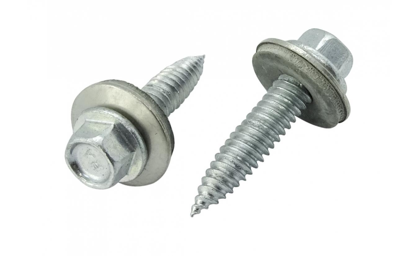 Dunblikschroeven - Zelftappende bi-metaal schroeven met EPDM ring 6x25 100 stuks